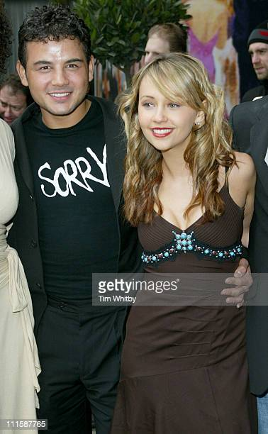 Ryan Thomas and Samia Ghadie during TRIC Awards 2005 Arrivals at Grosvenor House in London Great Britain
