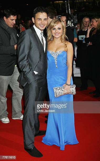 Ryan Thomas and Tina O'Brien arrive for the National Television Awards 2007 at the Royal Albert Hall on October 31 2007 in London England