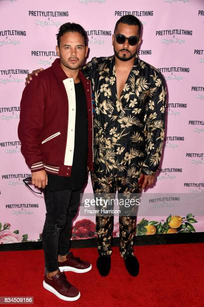 Ryan Thomas and Umar Kamani attends PrettyLittleThing X Olivia Culpo Launch at Liaison Lounge on August 17 2017 in Los Angeles California