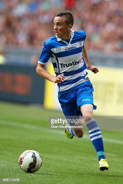 Ryan Thomas of Zwolle in action during the 19th Johan Cruijff Shield match between Ajax Amsterdam and PEC Zwolle at the Amsterdam ArenA on August 3...
