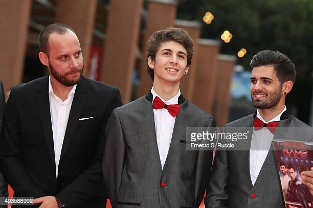 Ryan Travis Favij and Leonardo De Carli attend a red carpet for 'Game Therapy' during the 10th Rome Film Fest on October 21 2015 in Rome Italy