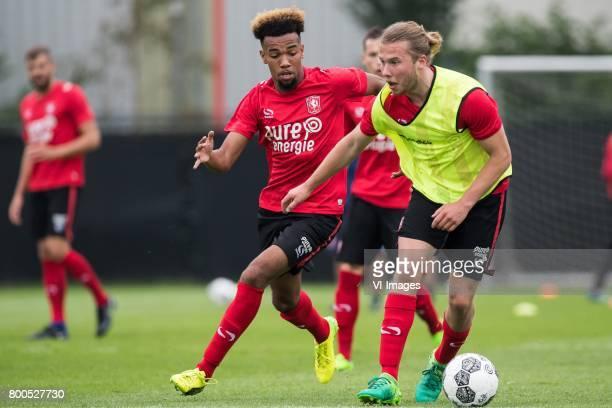 Ryan Trotman of FC Twente Jeroen van der Lely of FC Twenteduring a training session at Trainingscentrum Hengelo on June 24 2017 in Hengelo The...