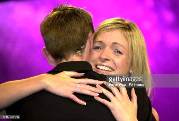 Ryan Tulbride host of the Rose of Tralee International Festival 2003 hugs winner Orla Tobin from Dublin The Rose of Tralee is a personality contest...