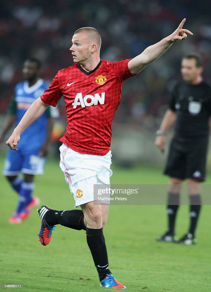Ryan Tunnicliffe of Manchester United in action during the pre-season friendly between AmaZulu FC and Manchester United at Moses Mabhida Stadium on July 18, 2012 in Durban, South Africa.