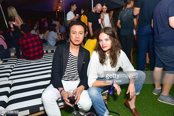Ryan Urcia and Kristina Ratliff attend A$AP Worldwide Cozy Clubhouse at The Surf Lodge Bungalow on December 2 2016 in Miami Beach FL