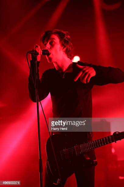 Ryan 'Van' McCann of Catfish and the Bottlemen performs at Southampton Guildhall on November 12 2015 in Southampton England