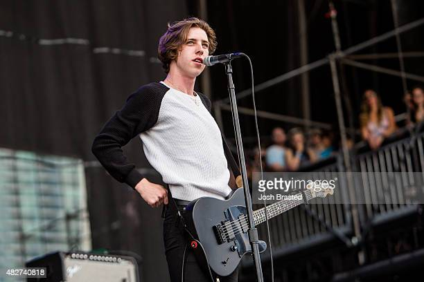 Ryan 'Van' McCann of Catfish and the Bottlemen performs at the 2015 Lollapalooza music festival at Grant Park on August 1 2015 in Chicago Illinois
