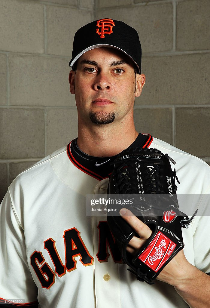 Ryan Vogelsong #32 of the San Francisco Giants poses during spring training photo day on March 1, 2012 in Scottsdale, Arizona.