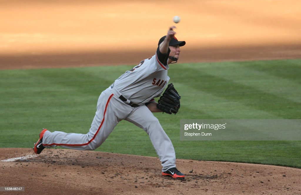 <a gi-track='captionPersonalityLinkClicked' href=/galleries/search?phrase=Ryan+Vogelsong&family=editorial&specificpeople=670011 ng-click='$event.stopPropagation()'>Ryan Vogelsong</a> #32 of the San Francisco Giants throws a pitch against the Los Angeles Dodgers on October 3, 2012 at Dodger Stadium in Los Angeles, California.