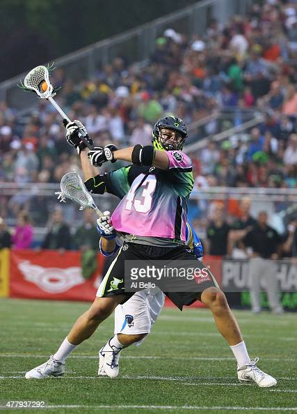 Ryan Walsh of New York Lizards shoots against the Charlotte Hounds during their game at James M Shuart Stadium on June 20 2015 in Hempstead New York