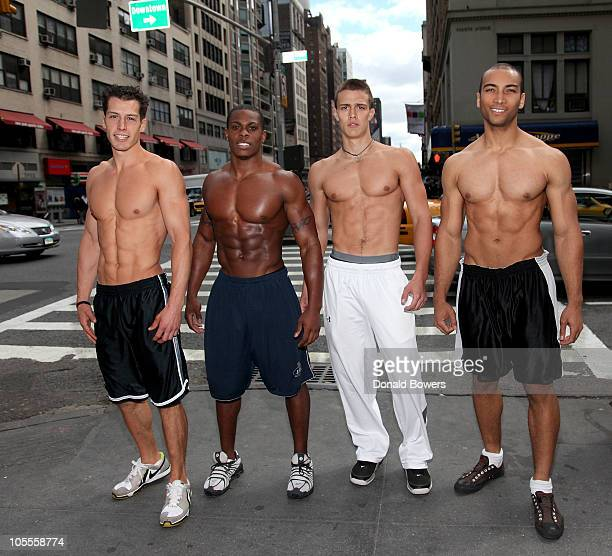Ryan Waukey James McMillian Rob Moravsky and Roman Johnson attend Wilhelmina Hot Body Model Search 2011 at Wilhelmina Models on October 16 2010 in...