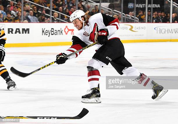 Ryan White of the Arizona Coyotes skates against the Pittsburgh Penguins at PPG Paints Arena on December 12 2016 in Pittsburgh Pennsylvania