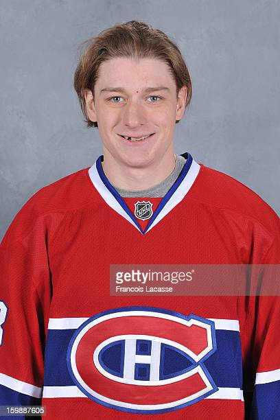 Ryan White of the Montreal Canadiens poses for his official headshot for the 20122013 season on January 13 2013 at the Bell Sports Complex in...