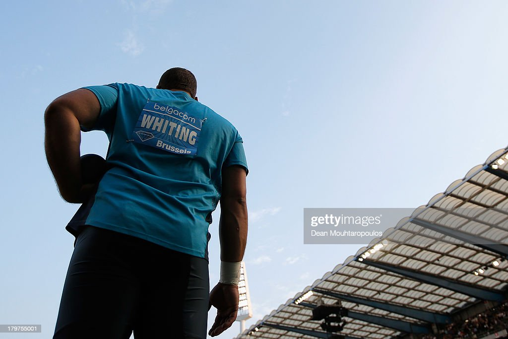 Ryan Whiting of USA competes in the Mens Shot Put during the 2013 Belgacom Memorial Van Damme IAAF Diamond League meet at The King Baudouin Stadium on September 6, 2013 in Brussels, Belgium.