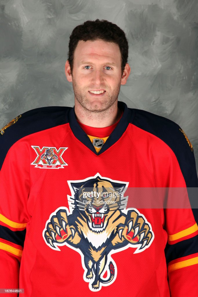 <a gi-track='captionPersonalityLinkClicked' href=/galleries/search?phrase=Ryan+Whitney&family=editorial&specificpeople=584338 ng-click='$event.stopPropagation()'>Ryan Whitney</a> of the Florida Panthers poses for his official headshot for the 2013-2014 NHL season on October 1, 2013 in Sunrise, Florida.