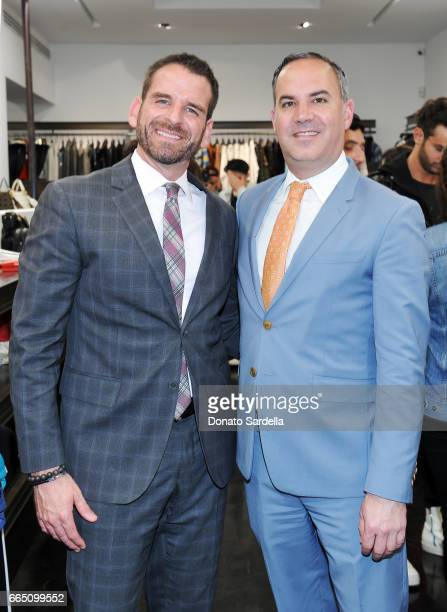 Ryan Williams and Saks Fifth Avenue general manager Robert ArnoldKraft attend DIOR SS17 Collection Launch at Maxfield on April 5 2017 in Los Angeles...