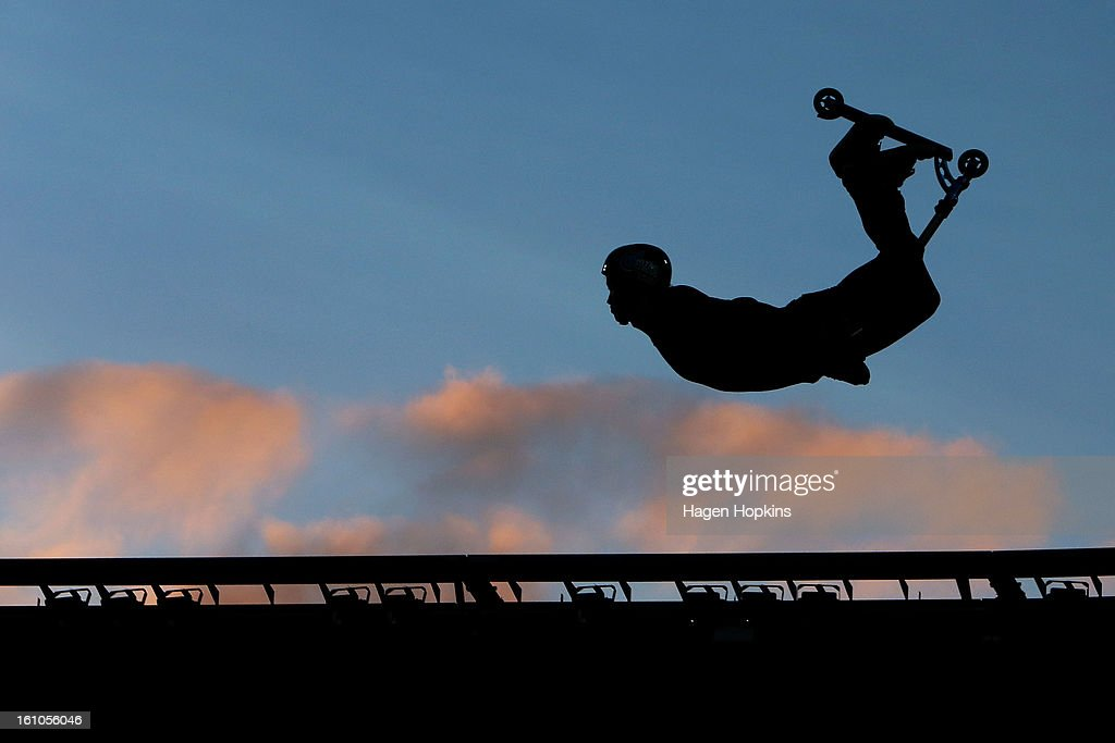 Ryan Williams performs during Nitro Circus Live at Westpac Stadium on February 9, 2013 in Wellington, New Zealand.