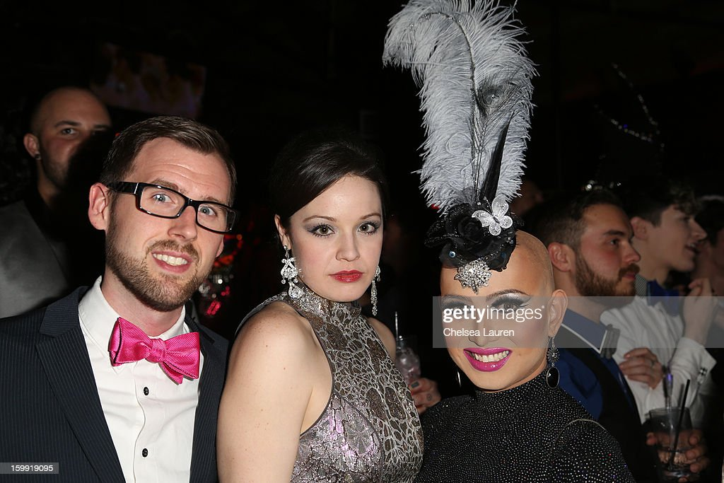 Ryan Wray, actress Shelley Regner and TV personality Ongina attend 'Rupaul's Drag Race' season 5 premiere party at The Abbey on January 22, 2013 in West Hollywood, California.