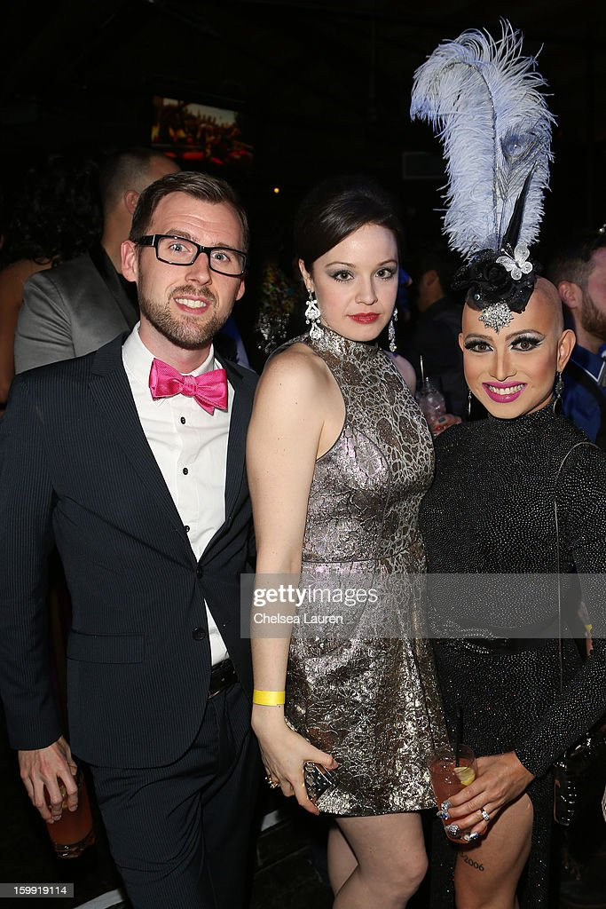Ryan Wray, actress Shelley Regner and TV personality <a gi-track='captionPersonalityLinkClicked' href=/galleries/search?phrase=Ongina&family=editorial&specificpeople=5658259 ng-click='$event.stopPropagation()'>Ongina</a> attend 'Rupaul's Drag Race' season 5 premiere party at The Abbey on January 22, 2013 in West Hollywood, California.