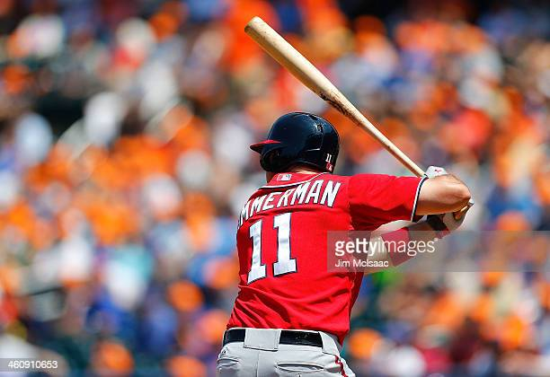 Ryan Zimmerman of the Washington Nationals in action against the New York Mets at Citi Field on June 29 2013 in the Flushing neighborhood of the...