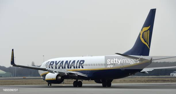 A Ryanair airline Irish company's aircraft takes off at the Eindhoven Airport a new base for the company on April 3 2013 AFP PHOTO/ ANP / LEX VAN...