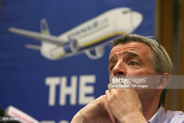 Ryanair CEO Michael O'Leary launches the company mobile phone service in Dublin