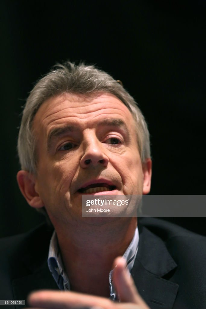 Ryanair CEO <a gi-track='captionPersonalityLinkClicked' href=/galleries/search?phrase=Michael+O%27Leary&family=editorial&specificpeople=5600252 ng-click='$event.stopPropagation()'>Michael O'Leary</a> speaks as he and Boeing Commercial Airplanes President & CEO Ray Conner hold a press conference after signing a $15.6 billion purchase agreement on March 19, 2013 in New York City. Ryanair, Europe's largest low-cost air carrier, agreed to buy 175 new Next Generation 737-800 airplanes from Boeing. According to Ryanair, the deal will create more than 3,000 new jobs for pilots, cabin crew and engineers across Europe.
