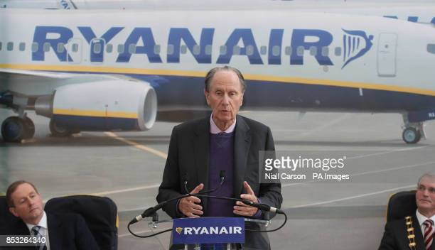 Ryanair Chairman David Bonderman speaking at the opening of the company's new offices in Swords in Dublin