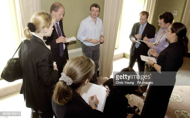 Ryanair chief executive Michael O'Leary briefs journalists in London after the nofrills Irish carrier announced the biggest quarterly profits...