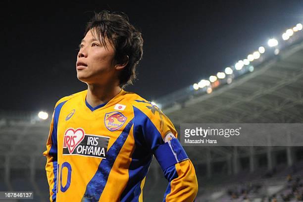 Ryang Yong Gi of Vegalta Sendai looks on after the AFC Champions League Group E match between Vegalta Sendai and Jiangsu Sainty at Sendai Stadium on...