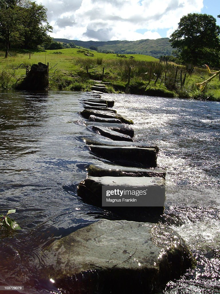 Rydal Beck crossing : Stock Photo