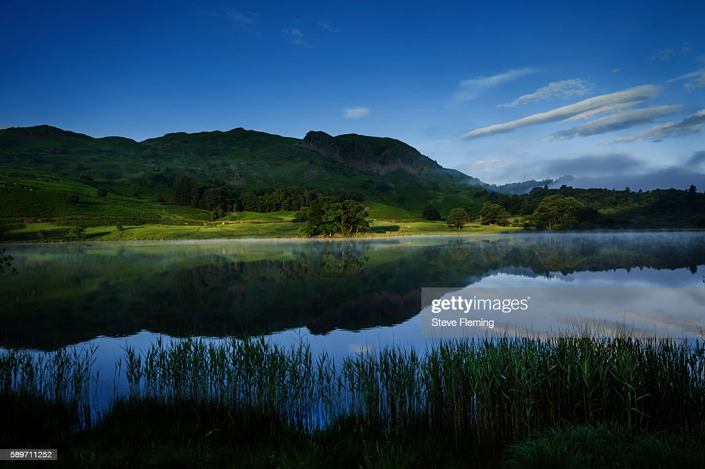 Rydal Water at dawn, Cumbria, UK.