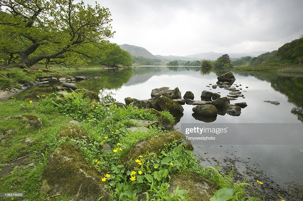Rydal Water on a cloudy day
