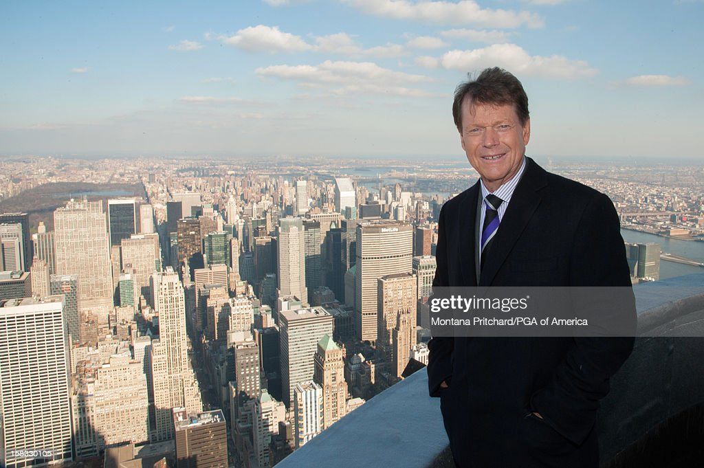 Ryder Cup Captain Tom Watson smiles for the media on the 103rd floor of the Empire State Building after the US Ryder Cup Captain Announcement Press Conference at the Empire State Building on December 13, 2012 in New York City.
