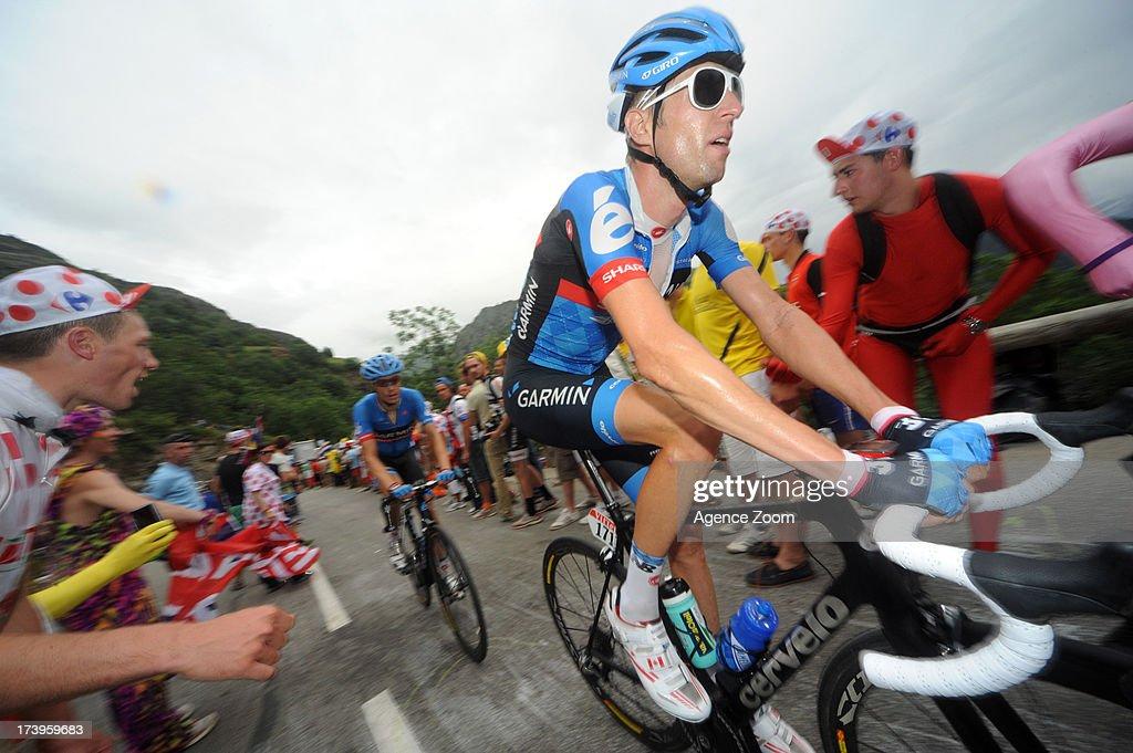 Ryder Hesjedal of Team Garmin-Sharp during Stage 18 of the Tour de France on July 18, 2013, Gap to Alpe-d'Huez, France..