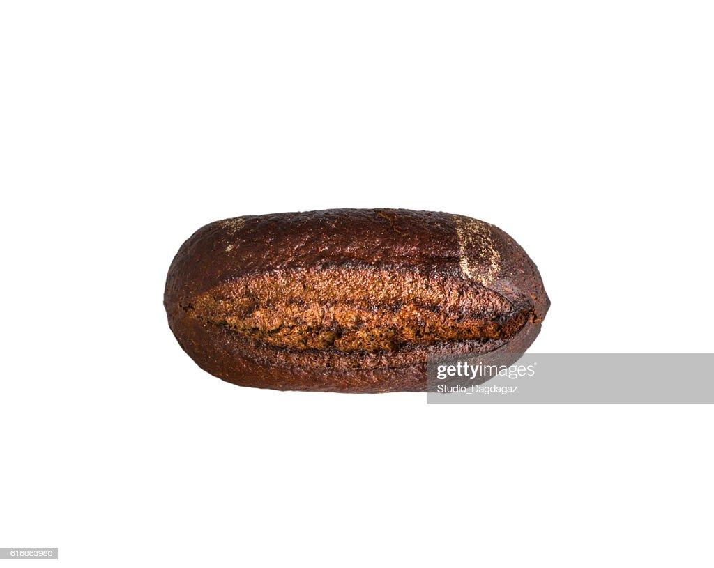 Rye dark bread isolated on white : Stock Photo