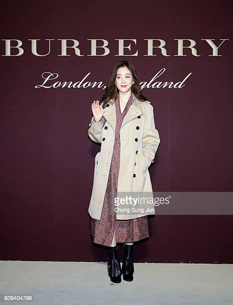 RyeoWon Jung attends the 'The Tale of Thomas Burberry' at the Burberry Seoul Flagship store on November 29 2016 in Seoul South Korea