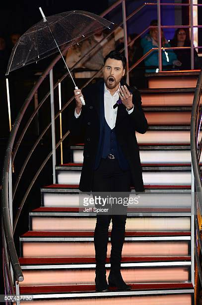 Rylan Clark after the 6th celebrity is evicted from the Big Brother House at Elstree Studios on January 29 2016 in Borehamwood England