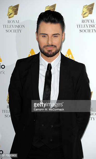Rylan Clark arrives for The Royal Television Society Programme Awards at The Grosvenor House Hotel on March 22 2016 in London England