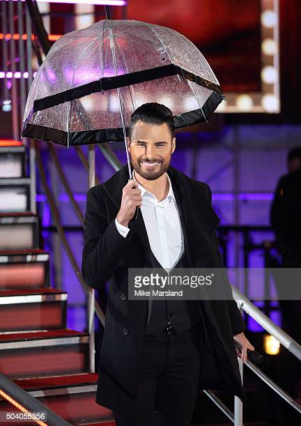 Rylan Clark at the Big Brother house at Elstree Studios on January 8 2016 in Borehamwood England