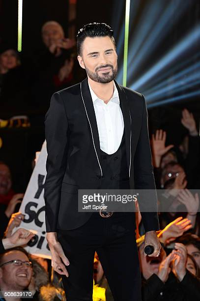 Rylan Clark at the final of Celebrity Big Brother at Elstree Studios on February 5 2016 in Borehamwood England