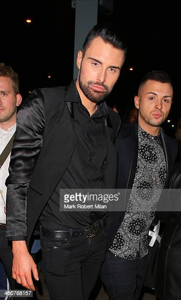 Rylan Clark at the I Can't Sing opening night party held at One Marylebone on March 26 2014 in London England