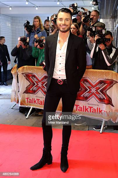 Rylan Clark attends the press launch of 'The X Factor' on August 26 2015 in London England