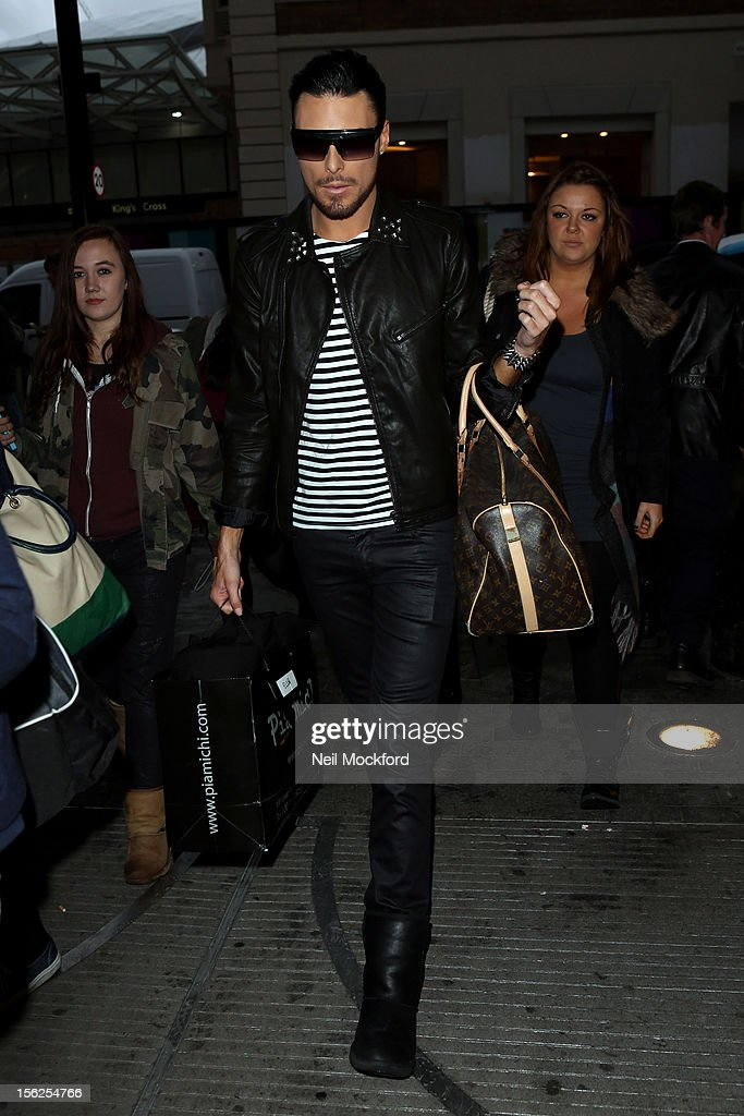 Rylan Clark from X Factor 2012 seen at St Pancras Eurostar Departures on November 12, 2012 in London, England.