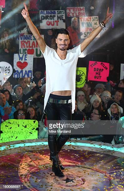 Rylan Clark is crowned winner of Celebrity Big Brother at Elstree Studios on January 25 2013 in Borehamwood England
