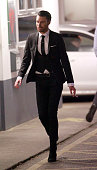 Rylan Clark is pictured out in London after the CBB Finals on February 7 2015 in London England