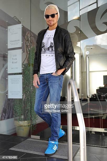Rylan Clark is seen arriving at studios on November 05 2012 in London United Kingdom