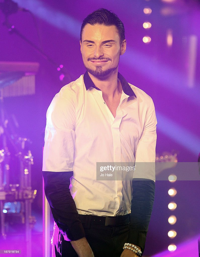 Rylan Clark performs at The Emeralds and Ivy Ball on December 1, 2012 in London, England.