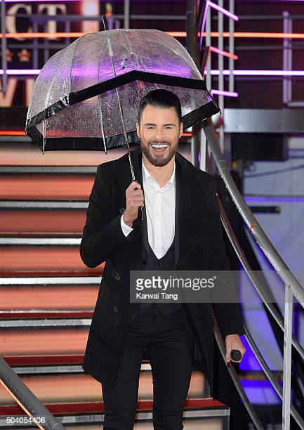 Rylan Clark presents from the Big Brother house at Elstree Studios on January 8 2016 in Borehamwood England