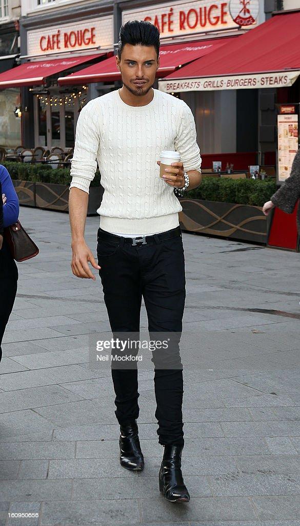 Rylan Clark seen at Capital Radio on February 8, 2013 in London, England.